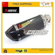Universal de escape akrapovic moto silenciador de escape de la motocicleta tubo de escape moto accesorios