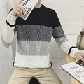 2017 winter pullover sweater brand knitting long sleeve O-neck Slim Korean fashion clothes men sweater M031