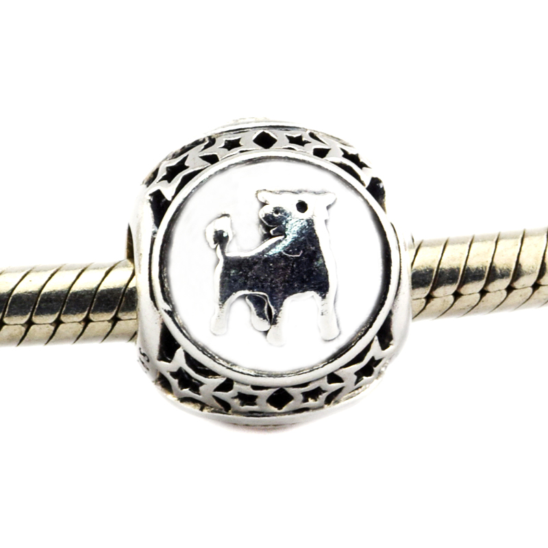 Fits For Pandora Bracelets Taurus Star Sign Charms 100% 925 Sterling Silver Beads Free Shipping