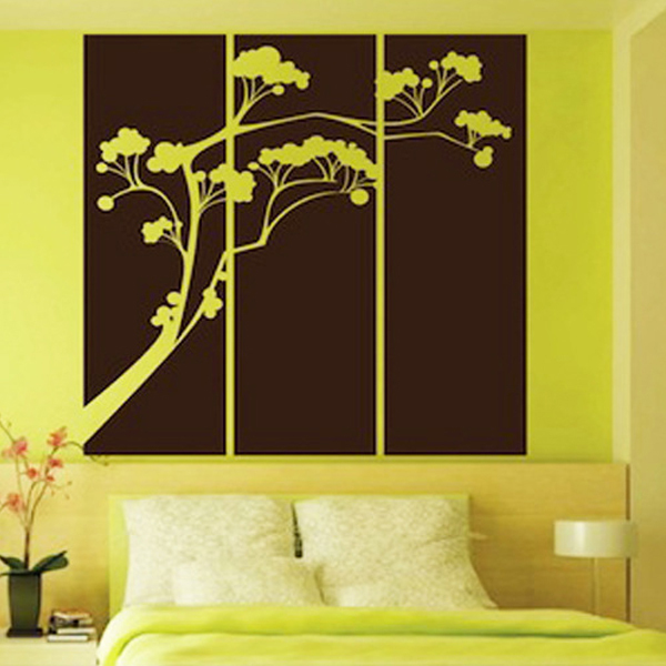 Popsicle Tree Panel vinyl stickers,vintage home decor family wall ...