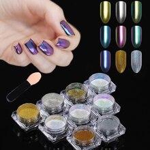 BORN PRETTY 9Pcs Mirror Chameleon Glitter Powder Set Chrome