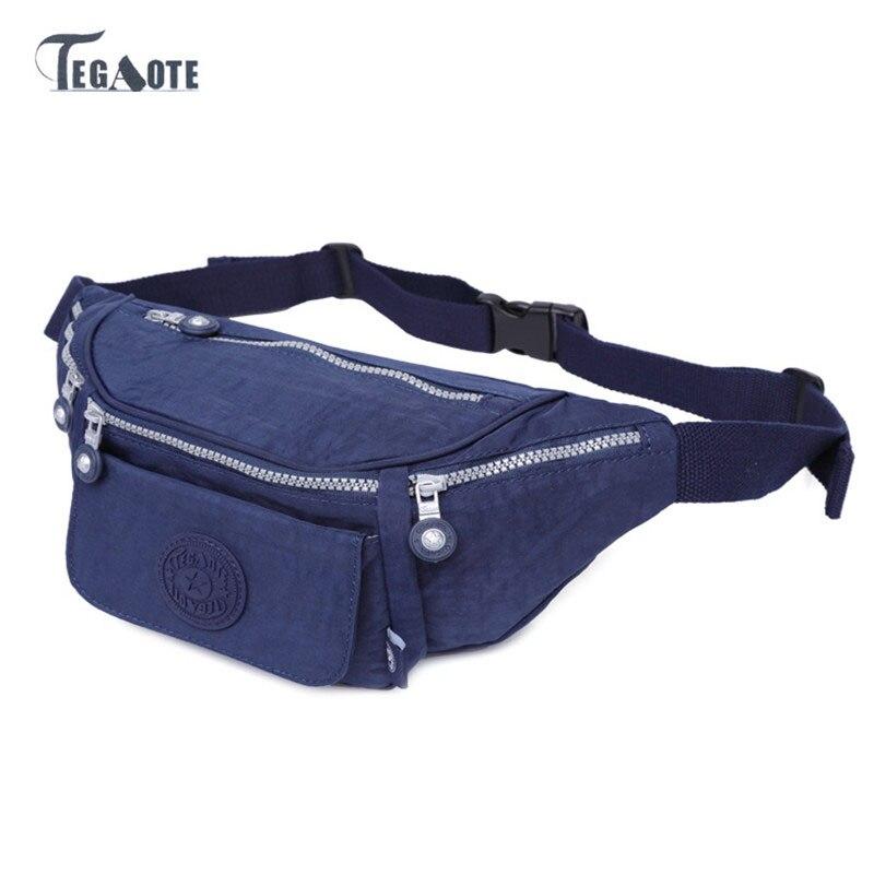 TEGAOTE Multifunctional waist bag for Men Money Belt Casual Fanny Pack Bags Male Waist Pack Bag Bum Bolsa Hip Bag