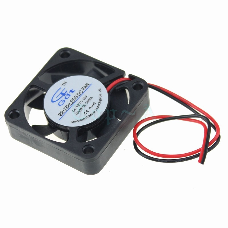 2 pcs Gdstime 40x40x10mm Ball Bearing 12V High Speed 2 Pin DC Brushless Cooler Cooling Fan 40mm 4cm high quality new ym1204pfb3 4010 4cm 12v 0 04a ultra quiet double ball bearing fan for first union 40 40 10mm