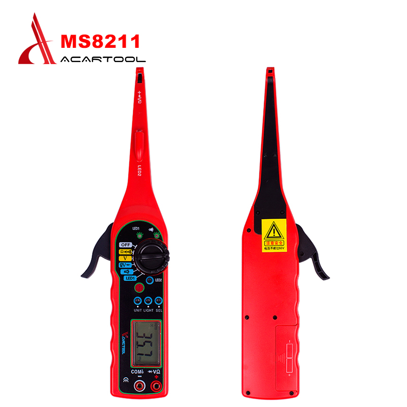Creative Tester Multimeter MS8211 Handheld Automotive Circuit Tester Multimeter Tester Digital Car Repair Detector portable integrated circuit tester ic tester transistor tester online maintenance digital led ic tester