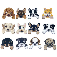 Iron On Patches For Kids Embroidered Dog Clothing Fabric Badges 20 pcs/lot