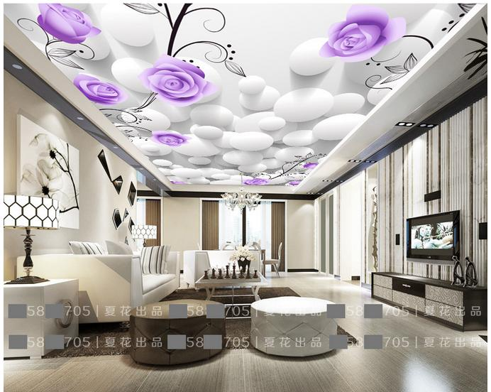 customized 3d photo wallpaper 3d celing mural wallpaper wall paper 3 d circular frescoes on roses 3d wallpaper for living room in wallpapers from home