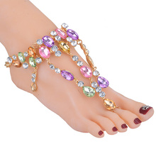 Manerson 2017 Fashion Beach Vacation Ankle Bracelet Sexy Pie Leg Chain Foot For Women Jewelry Female Crystal Anklet Jewelry