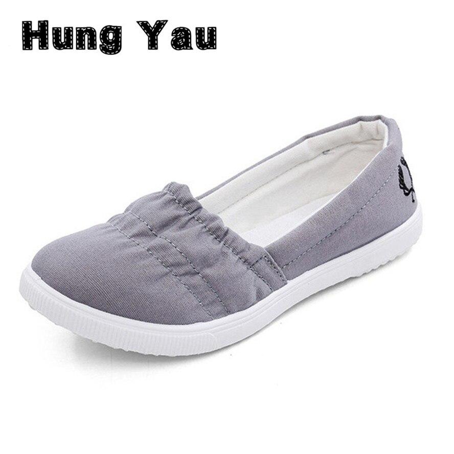 Las Mujeres de Los Holgazanes Suave Transpirable Slip On Pisos Zapatos de Mujer