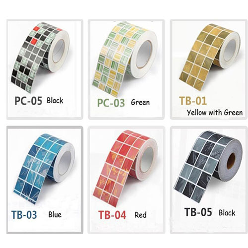 Self Adhesive Mosaic Wallpaper Border Wall Sticker Waterproof Waistline Kitchen Tile Stickers Papel De Parede Mosaico In Wallpapers From Home