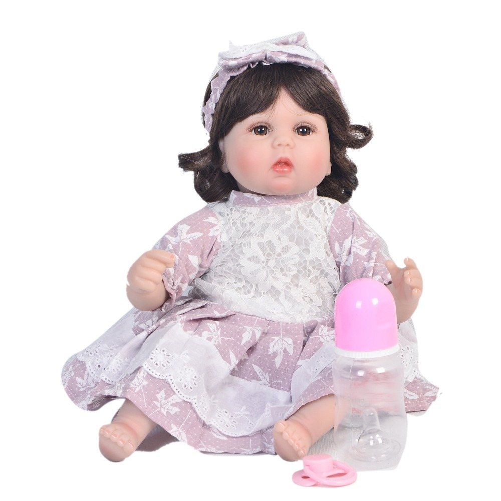 17inch 42cm reborn soft bebe Silicone Reborn Girl Baby Doll Toys Newborn Princess Toddler Babies Dolls Toy Play House Toy Doll17inch 42cm reborn soft bebe Silicone Reborn Girl Baby Doll Toys Newborn Princess Toddler Babies Dolls Toy Play House Toy Doll