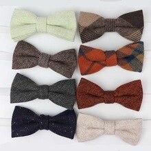 Детский шерстяной галстук-бабочка для маленьких мальчиков, Бабочка, узкий галстук-бабочка, однослойный Детский галстук-бабочка, Gravatas Borboleta, воротник, детские галстуки