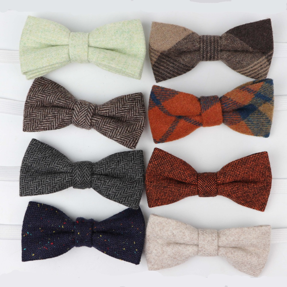 Children Wool Bow Tie Baby Boys Butterfly Skinny Bowtie Single Layer Child Bowties Gravatas Borboleta Collar Kids Ties