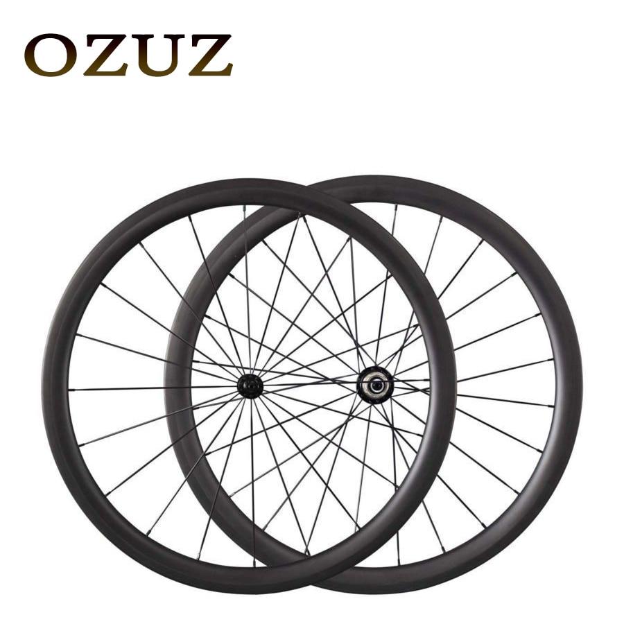 Promotional Powerway R13 424 spokes OZUZ 38mm Full Carbon Wheels Road Bike Bicycle Clincher Bike Wheels Light Wheels On Sale зимняя резина r 13