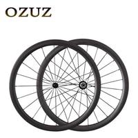 Promotional Powerway R13 424 spokes OZUZ 38mm Full Carbon Wheels Road Bike Bicycle Clincher Bike Wheels Light Wheels On Sale