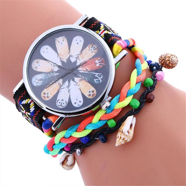 Fashion Women Black Flower Analog Alloy Quartz Wrist Watch bracelet watches for women ladies watches top brand luxury bayan saat