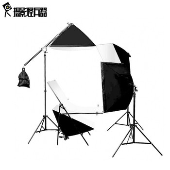 4PCS 175W BULBSphoto stuido photography set photo table single lamp set station photographic equipment shooting table kit CD15