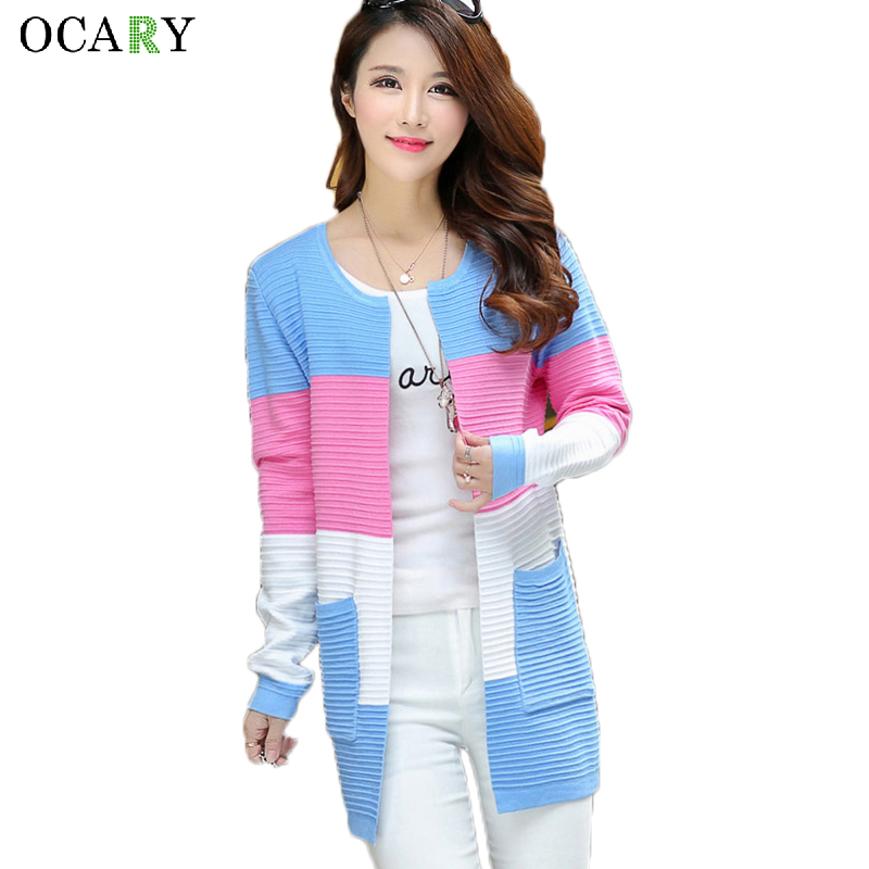 Elegant Women Sweaters Spring Summer Thin Cardigans Knitted Long Cardigan Cotton Haut Femme Ete  Blusas Gilet  Size XL 1