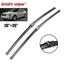 """Стеклоочиститель Erick's LHD& RHD передние щетки стеклоочистителя для Mercedes Benz E Class W211 S211 02-09 лобовое стекло Переднее стекло 2""""+ 26"""""""