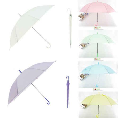 869ac004e Hot Clear Fashion Portable Transparent Clear Rain Umbrella Parasol PVC Dome  Wedding Party Favor