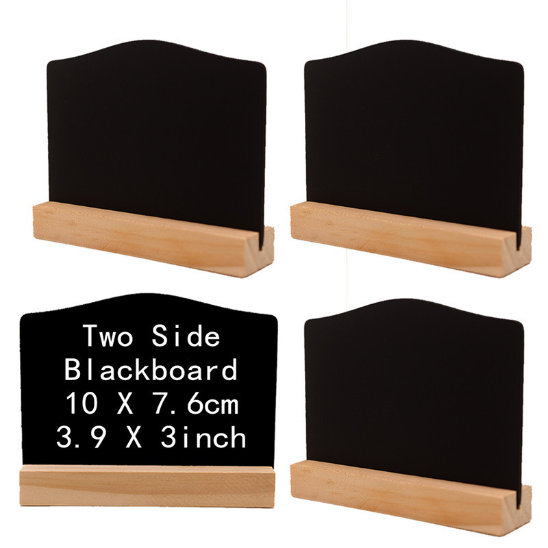 Blackboard Menu Stand Hotel Bar Countertop Sign Chalkboard Handwriting Message Board Double Sides Wooden Price Tag Display Rack