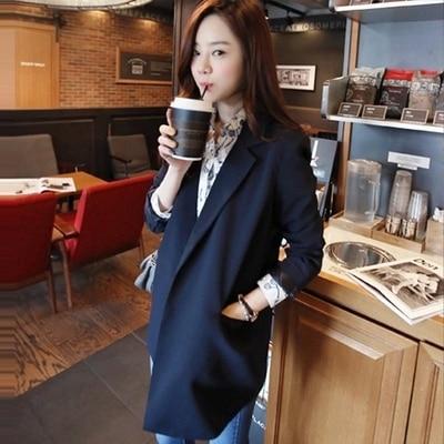 women Long section Casual grid suits blazer Lady office suits blazer female autumn gray formal jackets pocket button suits Pakistan