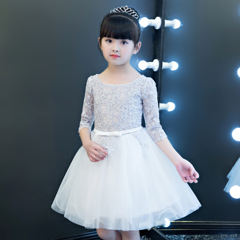 Children Girls Birthday Wedding Holiday Party Princess Lace Dress New Elegant Luxury Babies Kids Tutu Dancing Pageant Lace Dress