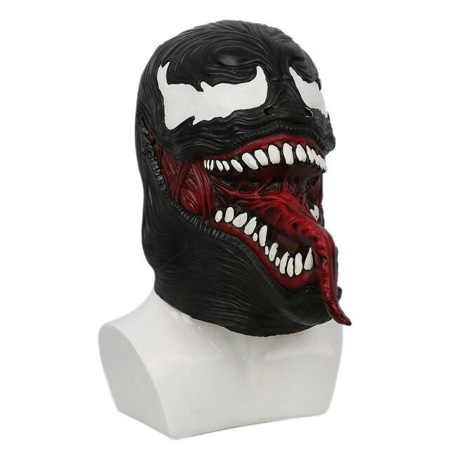 Coslive Spider-Man Venom Mask Black & Red Latex Hood Mask for Halloween Cosplay For Men Adult 1