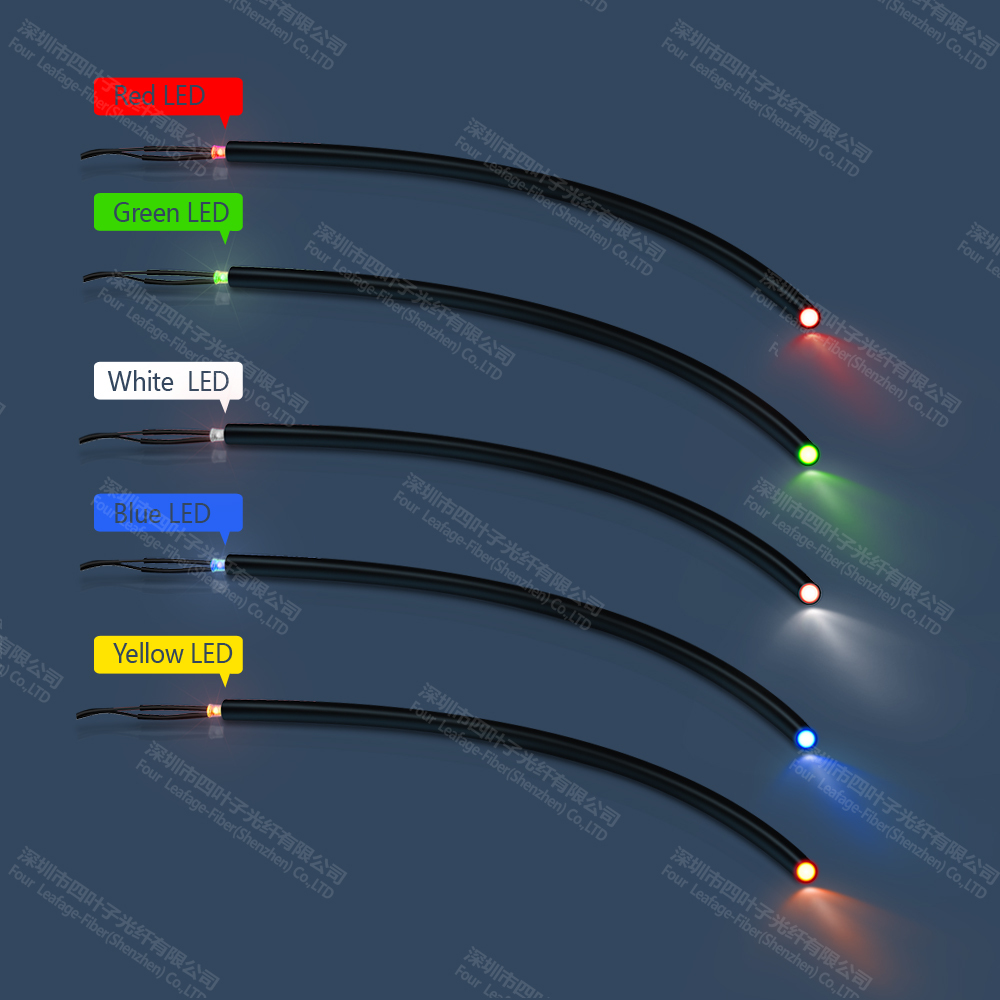 hight resolution of 18mm led floor tile light end glow fiber optic patch cord cable light for outdoor lighting decoration in optic fiber lights from lights lighting on