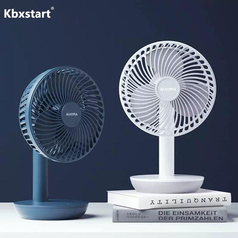 Handheld Portable USB Fan Mini Home USB Charging Fan Travel Desktop Foldable Cooling Fan for Household Office Blue