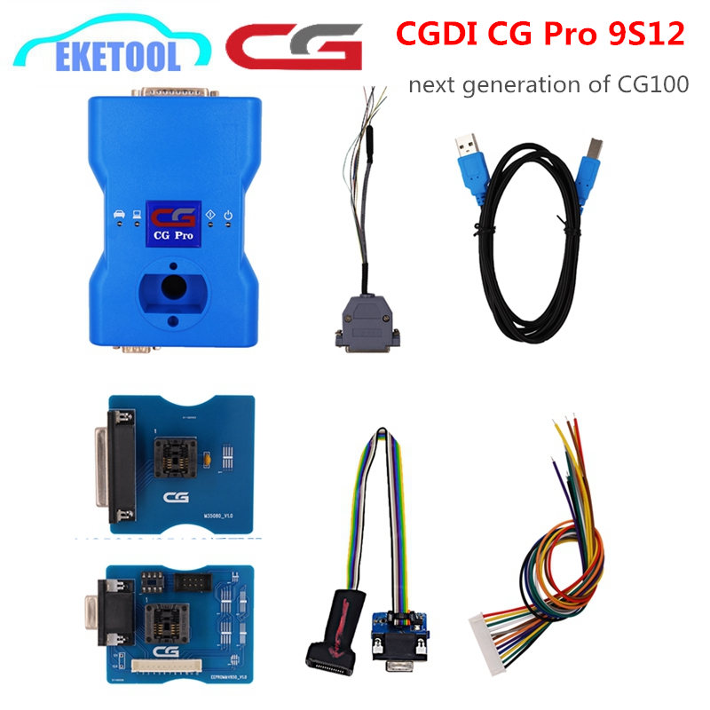 2019 Newest CG PRO 9S12 Key Programmer Update Online Supports Anti theft For BMW MB Porsche