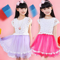 New 2016 summer girl dress, baby & kids dress, cotton & lace & chiffon vestidos de menina girls casual dress,girl party dress