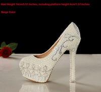 2018 г.; Роскошные 14 см туфли на высоком каблуке красивые свадебные туфли белая свадебная обувь со стразами Модельные туфли для вечеринки, вып