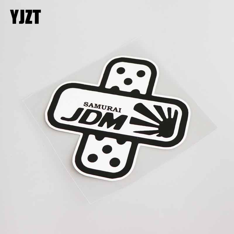 YJZT 12.4CM*12.2CM Cartoon Band Aid Car-styling Car Sticker Decal PVC Motorcycle Graphical 13-0027