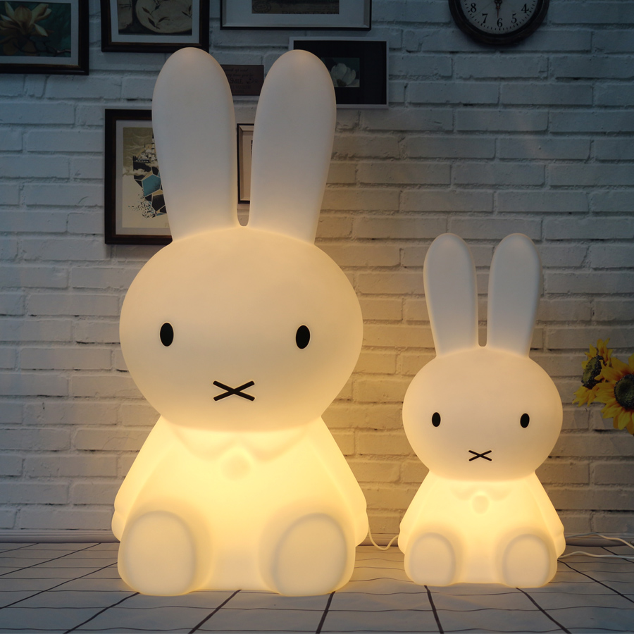 Dimmable Rabbit Lamp Led Night Light for Baby Children Kids Gift Animal Cartoon Bedside Bedroom Living Room Decorative Lighting