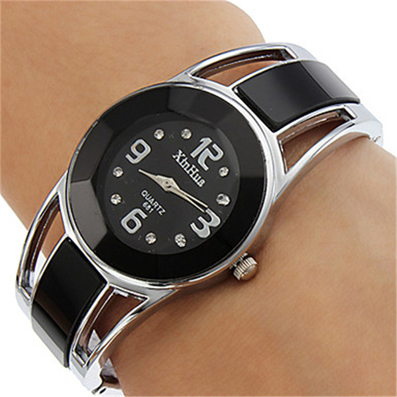 Bracelet Watches Dress Feminino Luxury Women Quartz Relogio Kol Round Alloy Saati Analog title=