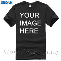 Custom Printed Your Logo O Neck Mens T Shirts High Quality 100 Cotton Plus Size Casual