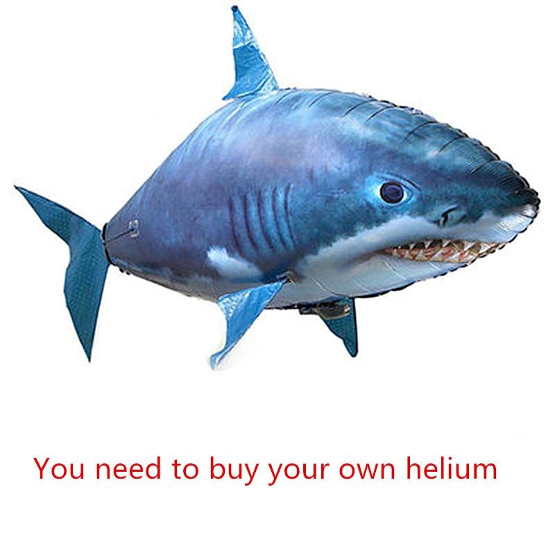 Un requin volant télécommande ballon poisson jouets éducatifs le ballon jouets (vous devez acheter votre propre hélium) M363