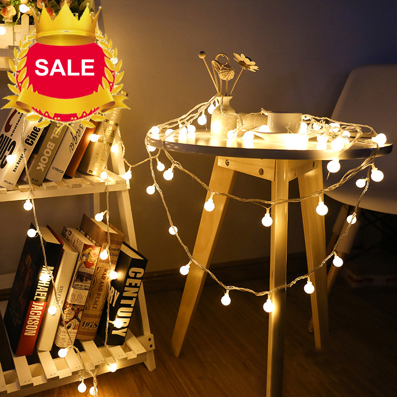 2m 20leds Christmas Tree Led Holiday Lights Garland Balls String Light Night Fairy Globe Ball For Home Party Decor Led String