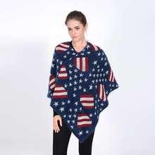 Women Blanket Scarf Cashmere Pashmina Mujer Winter Scarf Luxury Brand Star Tartan Echarpes Foulards Femme YJWD804