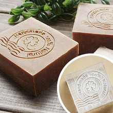 Free shipping Four-leaf clover handmade soap pattern Mini diy soap stamp chaprter seal 4*4CM