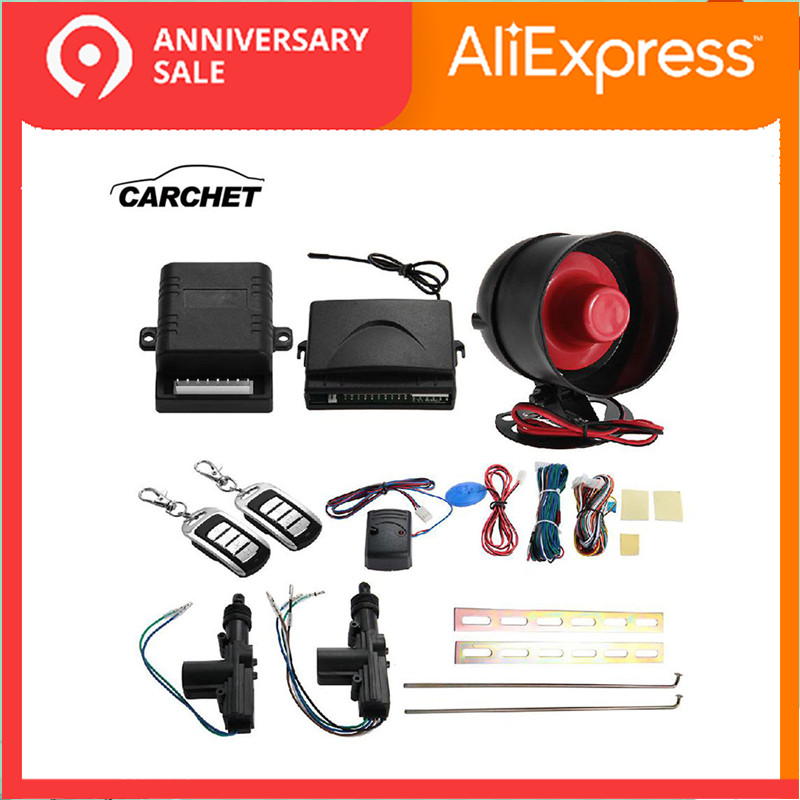 CARCHET Universal 2 Set Car Remote Keyless Entry Alarm System Kit Waterproof 12V Locking Protection Central
