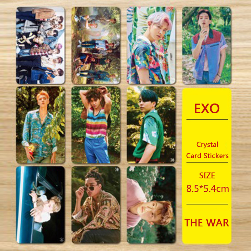 Jewelry Findings & Components Friendly Youpop Kpop Exo 4th Album The War Kokopop Baekhyun Chanyeol Concept Photo Version For Student Card Bus Pvc Crystal Card Stickers