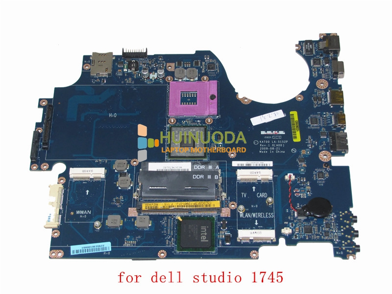 GENUINE LAPTOP MAINBOARD FOR DELL STUDIO 1745 INTEL GM45 MOTHERBOARD S478 DDR3 0g913p KAT00 LA-5152P G913P