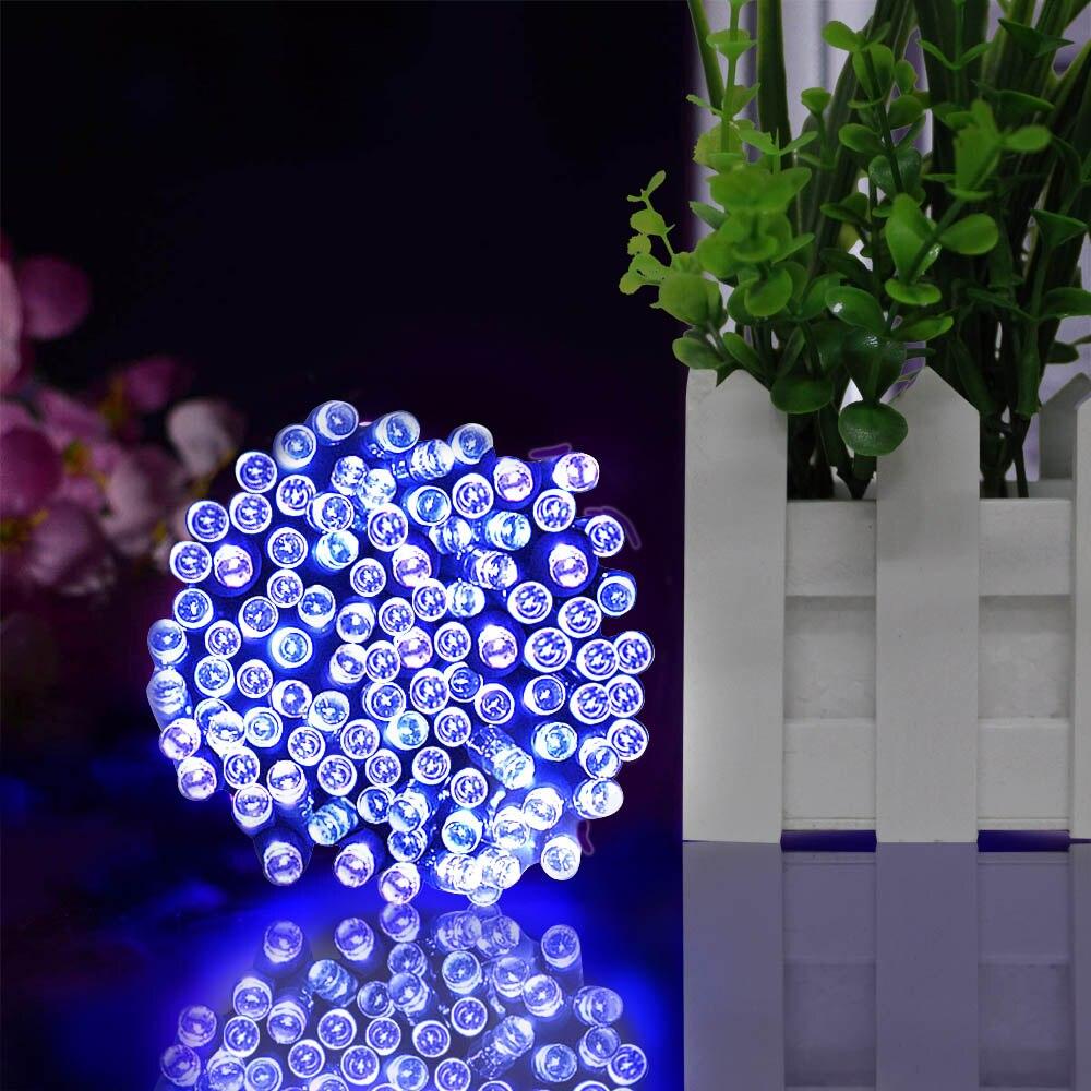 22 M 200LED Solar Powered luces de Navidad Garland Cadena de Led de luz de tira impermeable al aire libre de boda de jardín lámpara