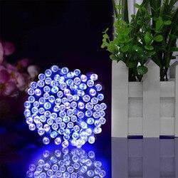 22 m 200led solar powered luzes de fadas guirlanda rua natal led string strip luz ao ar livre à prova dwaterproof água para jardim lâmpada casamento