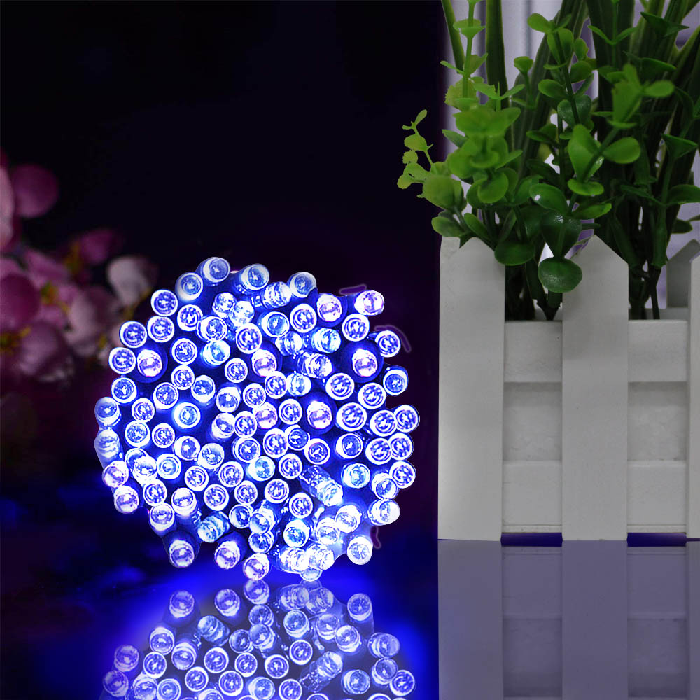 22M 200 LED String Fairy Lights Outdoor Christmas Waterproof  Solar Powered Strip Light Outdoor Lighting for Garden Wedding Lamp