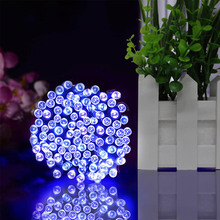 22M 200LED Solar Powered Fairy Lights Christmas Street Garland Led String Strip Light Outdoor Waterproof for Garden Wedding Lamp