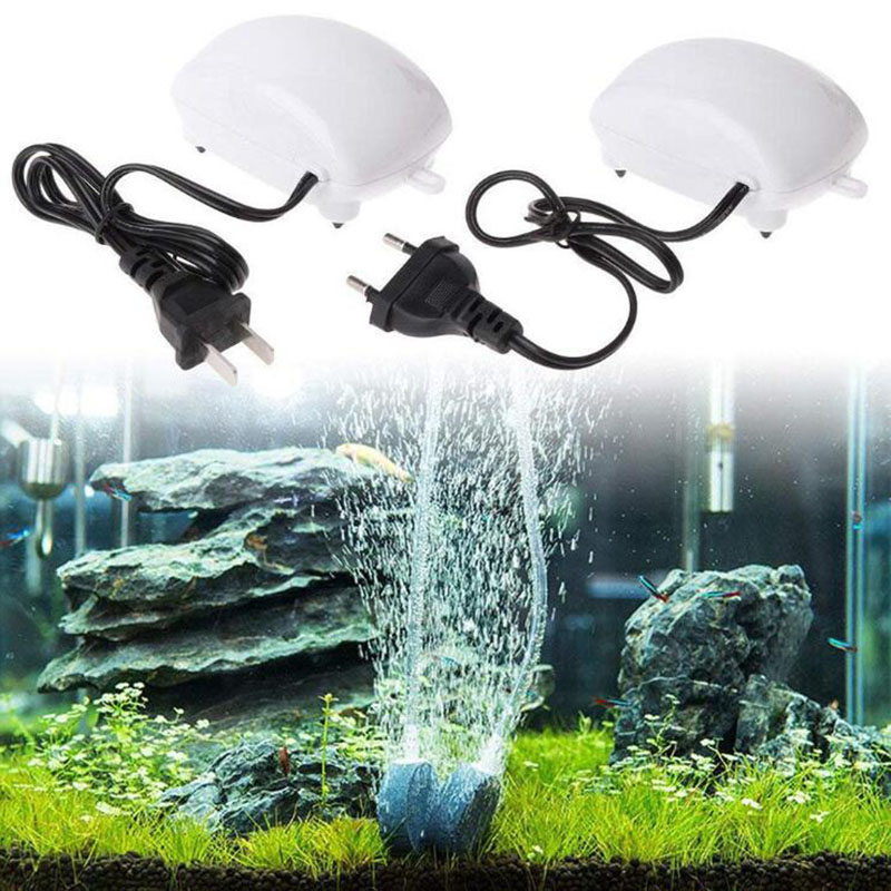 2.5W Ultra Low Noise Aquarium Air Pump Fish Tank Mini Compressor Oxygen