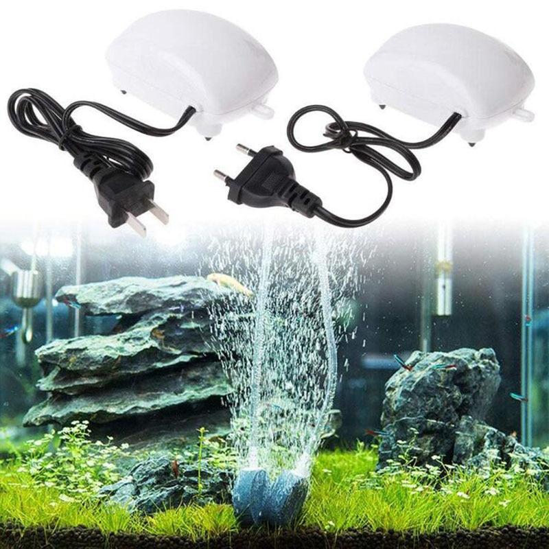 2.5W Ultra Low Noise Aquarium Air Pump Fish Tank Mini Air Compressor Oxygen Pump Aquarium Fish Tank Oxygen Pump
