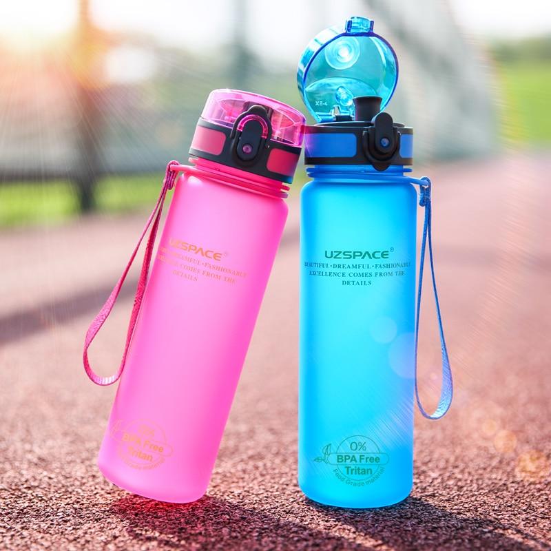 Kuća i bašta ... Kuhinja i trpezarija ... 32715465459 ... 2 ... UZSPACE Sport Water Bottle Protein Shaker Camping Hiking Drink Bottle for water 350/500/1000ml Tritan Plastic Drinkware BPA Free ...